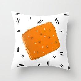 Toast Chee Peanut Butter Cracker Throw Pillow