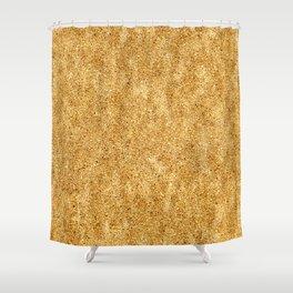 Classic Gold Glitter Shower Curtain