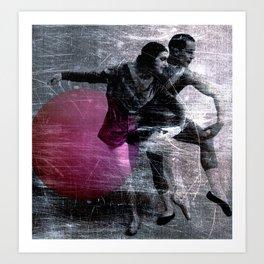 ball gymnastics Art Print