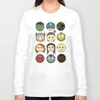 avenger Long Sleeve T-shirts featuring Avenger Emojis :) by jozi.art
