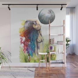 The Goddess full moon Wall Mural