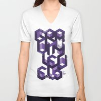 deadmau5 V-neck T-shirts featuring Gravity Levels - Geometry by Sitchko Igor
