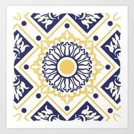 Azulejo Portugues 7 Art Print