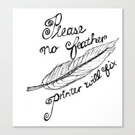 Printer notes Canvas Print