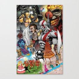 PlayStation Santa Monica Studio Fan Art Canvas Print