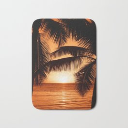 Perfect Palm Sunset (Color) Bath Mat