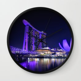 Blue Singapore by #Bizzartino Wall Clock