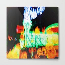 Neon Choo Choo Metal Print