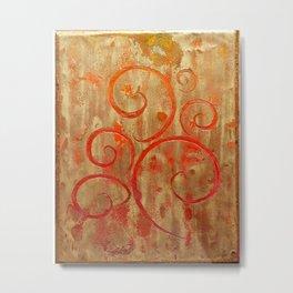 Pompeii Red (encaustic painting) Metal Print