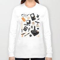 nerd Long Sleeve T-shirts featuring Nerd Life by Josh Ln