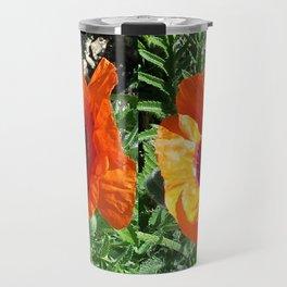 Oriental Poppy Travel Mug