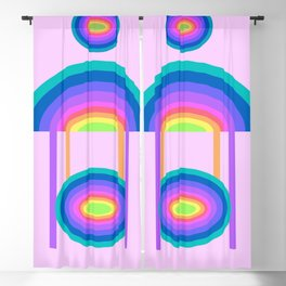 rainbow shapes -1- Blackout Curtain