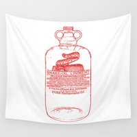 oil Wall Tapestries featuring snake oil by looseleaf