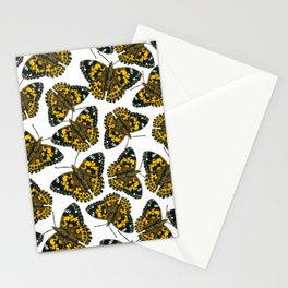 Painted lady butterfly pattern Stationery Cards