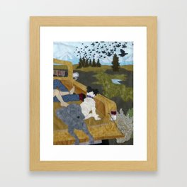 Crows in Lost Park Framed Art Print