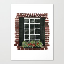 Old Town Window Canvas Print