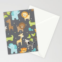 Jungle Animals Stationery Cards