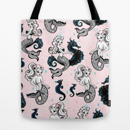 Pearla the Mermaid on Pink Tote Bag