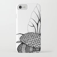 beetle iPhone & iPod Cases featuring Beetle by Freja Friborg