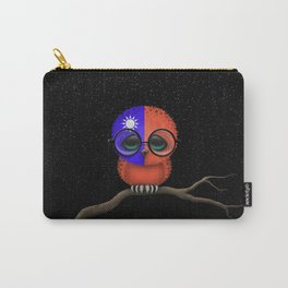 Baby Owl with Glasses and Taiwanese Flag Carry-All Pouch