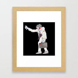 Zombie Collection: Business Man. Framed Art Print