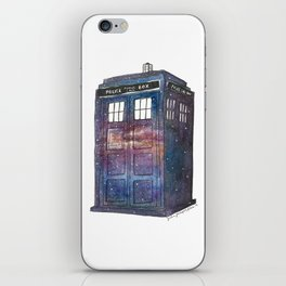 Doctor Who Galaxy Tardis iPhone Skin