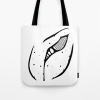 coraline Tote Bags featuring The Coraline by Joy Powers Does Art