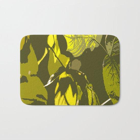 Autumn leaves bathing in sunlight Bath Mat