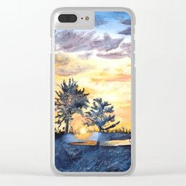 Ink Sunset Clear iPhone Case