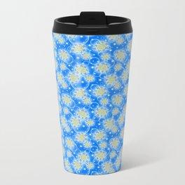 Inspirational Glitter & Bubble pattern Metal Travel Mug