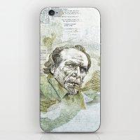 bukowski iPhone & iPod Skins featuring Charles Bukowski by Nina Palumbo Illustration