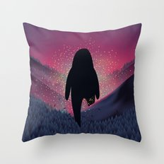 Never Look Back Throw Pillow