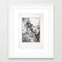 iron maiden Framed Art Prints featuring Vintage Iron Maiden by Art of Kadath