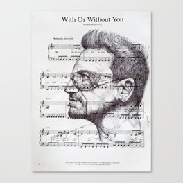 With Or Without You Canvas Print