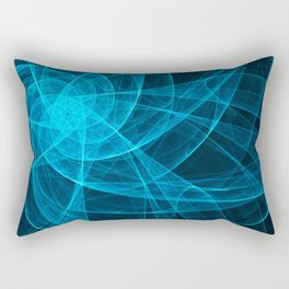 Tulles Star Computer Art in Blue Rectangular Pillow