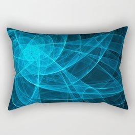 Tulles Star Computer Art in Blue Rectangular Pillow