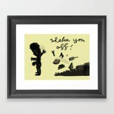 shake you off Framed Art Print