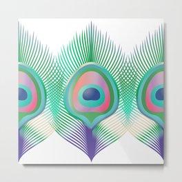 Peacock Pattern_G01 Metal Print