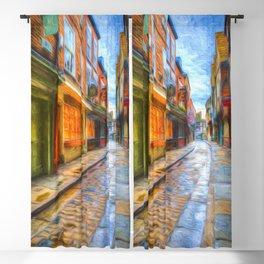 York Shambles Art Blackout Curtain