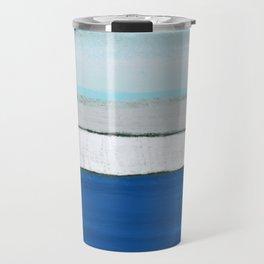 Dover, England, Abstract in Pastel Blue, Grey, Green.  Digital Art Travel Mug