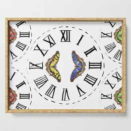 My Fluttery Clock 2 Serving Tray