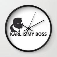 karl Wall Clocks featuring Karl by LuxuryLivingNYC