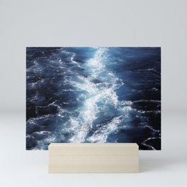 Marble Sea Waves Mini Art Print