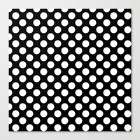 polka dots Canvas Prints featuring Polka Dots by Kings in Plaid