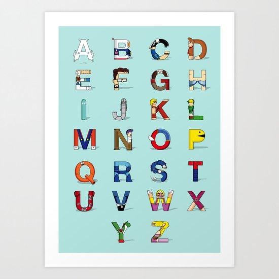 VGC alphabet Art Print