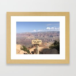Ooh Ahh Point Framed Art Print