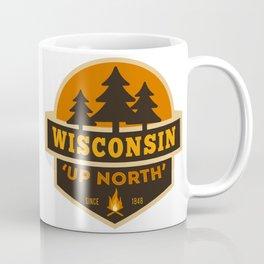 Retro Up North Wisconsin Coffee Mug