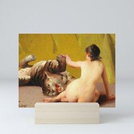 "Luis Ricardo Falero ""Playing with the Tiger"" Mini Art Print"