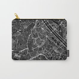 Vienna Black Map Carry-All Pouch