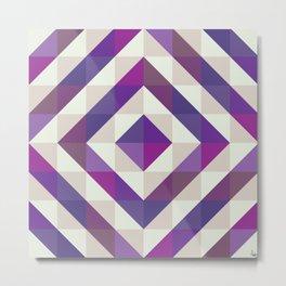 Patchwork Purples Metal Print